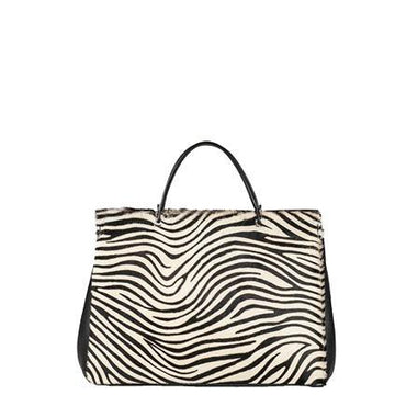 Zebra Print Hair On Leather Grab Shoulder Bag - Brix and Bailey® - Contemporary Bag, Watch and Accessory Brand