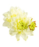 Artificial 70cm Single Stem White Dahlia Closer2Nature