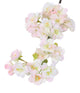 Artificial 68cm Single Stem White and Pink Tipped Japanese Cherry Blossom Closer2Nature
