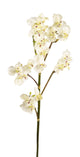 Artificial 69cm Single Stem White Miniature Phalaenopsis Orchid - Closer2Nature