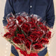 Floral Elegance Artificial 48cm Single Stem Gift Wrapped Red Rose