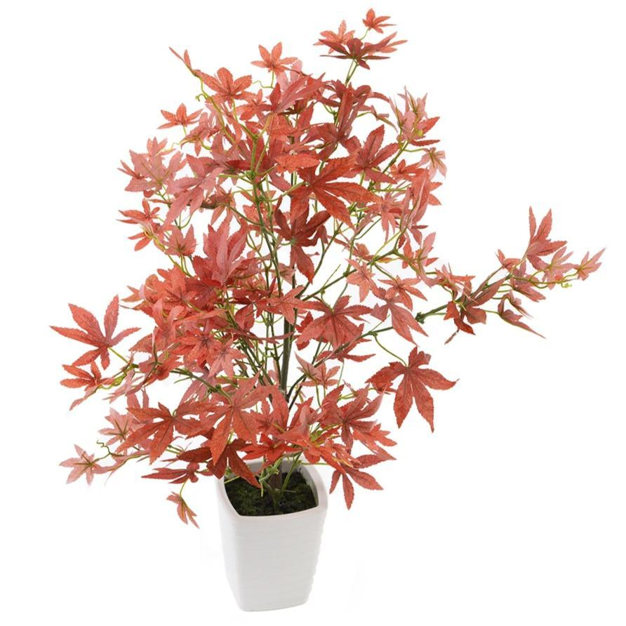 "Artificial 1ft 7"" Red Japanese Maple Tree Closer2Nature"