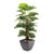 Artificial Swiss Cheese Plant with 30cm Portofino Planter and Scottish River Stones