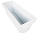 Portofino Collection 90cm Gloss White Galvanised Steel Trough Planter - Closer2Nature