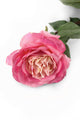 Artificial 92cm Single Stem Fully Open Pink Rose - Closer2Nature