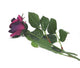 Artificial 70cm Single Stem Half Open Purple Rose - Closer2Nature