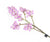 Artificial 69cm Single Stem Purple Miniature Phalaenopsis Orchid - Closer2Nature