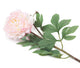 Artificial 80cm Single Stem Pale Pink Peony