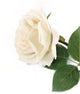 Artificial 92cm Single Stem Fully Open Ivory Rose - Closer2Nature