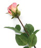 Artificial 52cm Single Stem Closed Bud Dusky Pink Rose - Closer2Nature