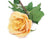 Artificial 92cm Single Stem Fully Open Golden Yellow and Pink Tipped Rose Closer2Nature