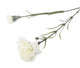 Artificial 70cm Single Stem White Carnation - Closer2Nature