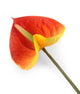 Artificial 64cm Single Stem Orange and Yellow Anthurium - Closer2Nature