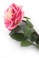 Artificial 92cm Single Stem Fully Open Pink Rose Closer2Nature