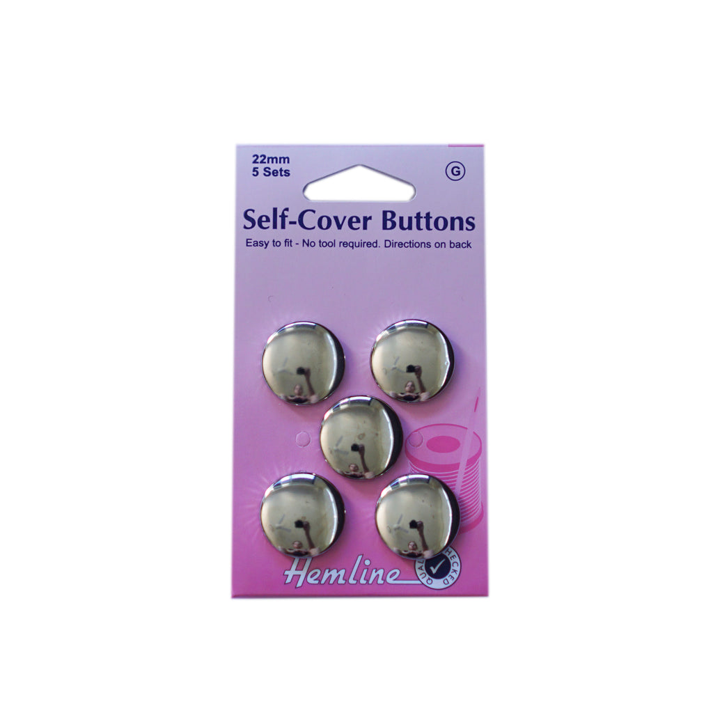 Hemline - Self Covering Buttons - 22mm x 5