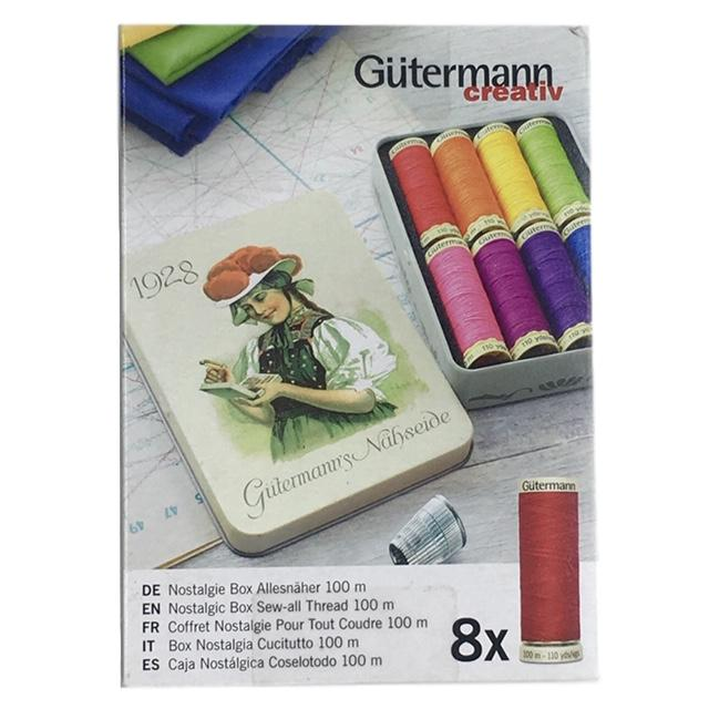 Gutermann - Nostalgic Box of Sew-All Thread - Bright