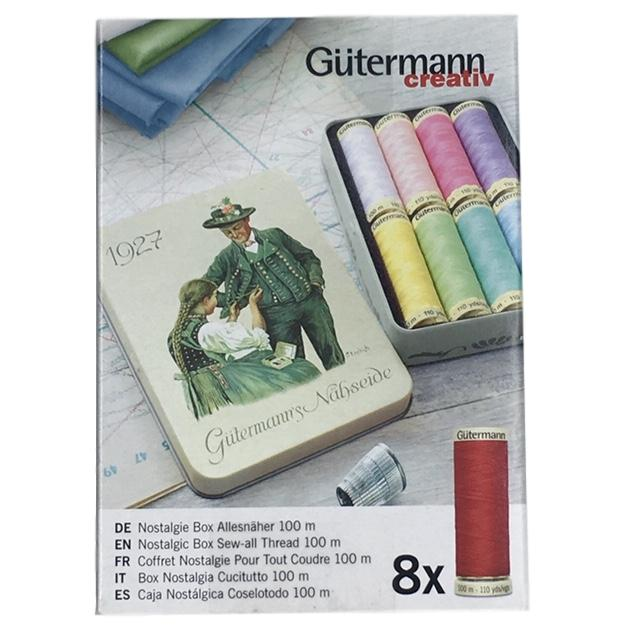 Gutermann - Nostalgic Box of Sew-All Thread - Pastel