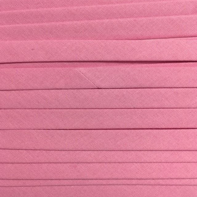 Sewing Gem - 25mm Double Fold Bias Binding - 100% Cotton - Pink