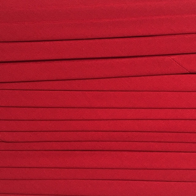 Sewing Gem - 25mm Double Fold Bias Binding - 100% Cotton - Red