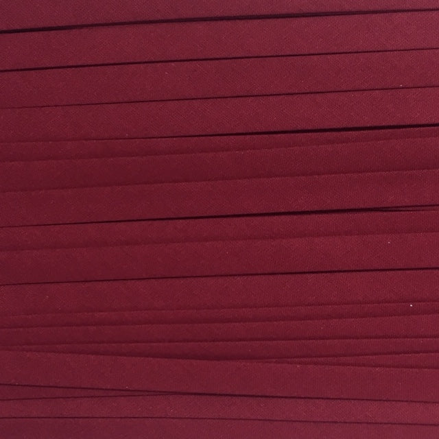 Sewing Gem - 25mm Double Fold Bias Binding - 100% Cotton - Wine