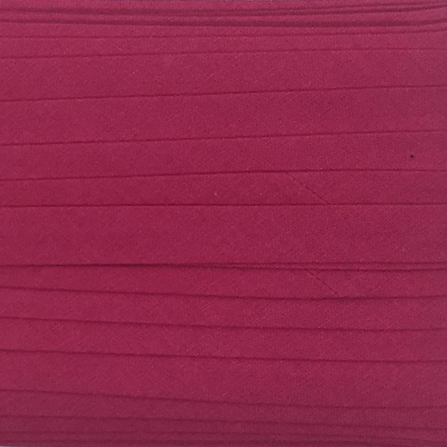 Sewing Gem - 12mm Bias Binding - 100% Cotton - Hot Pink