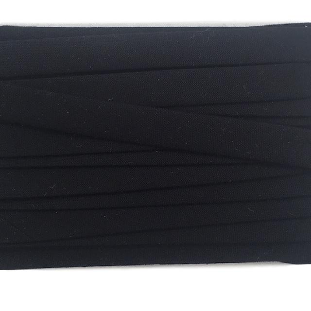 Sewing Gem - 25mm Double Fold Bias Binding - 100% Cotton - Black