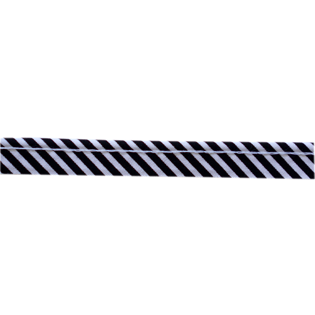 Sewing Gem - Cotton Piping - Black and White Stripes