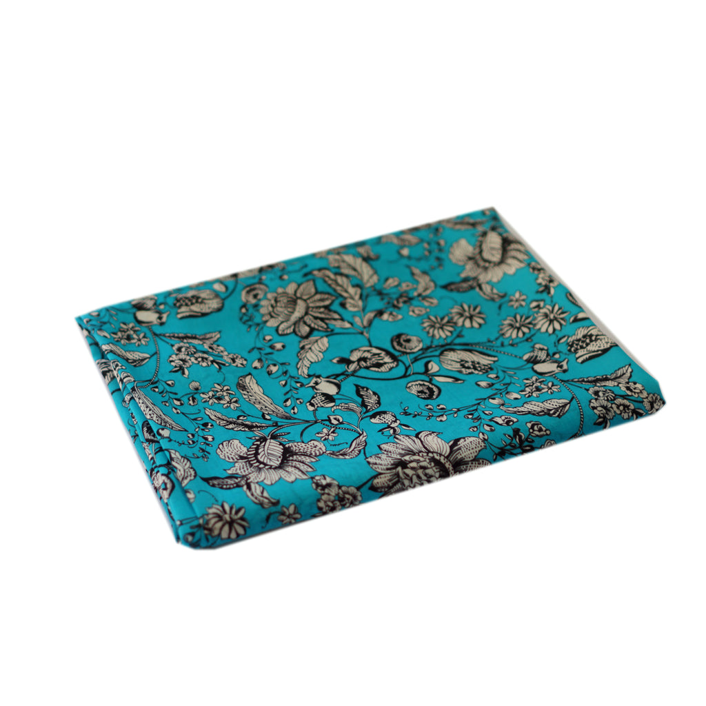 Rossini Fabrics Australia - 70% Cupra/30% Cotton - Aqua Flowers