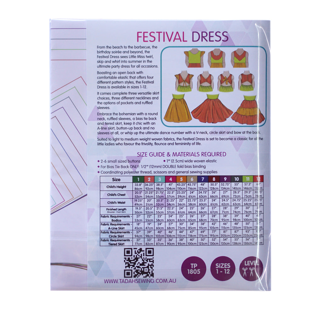 Tadah! Patterns - Festival Dress Pattern