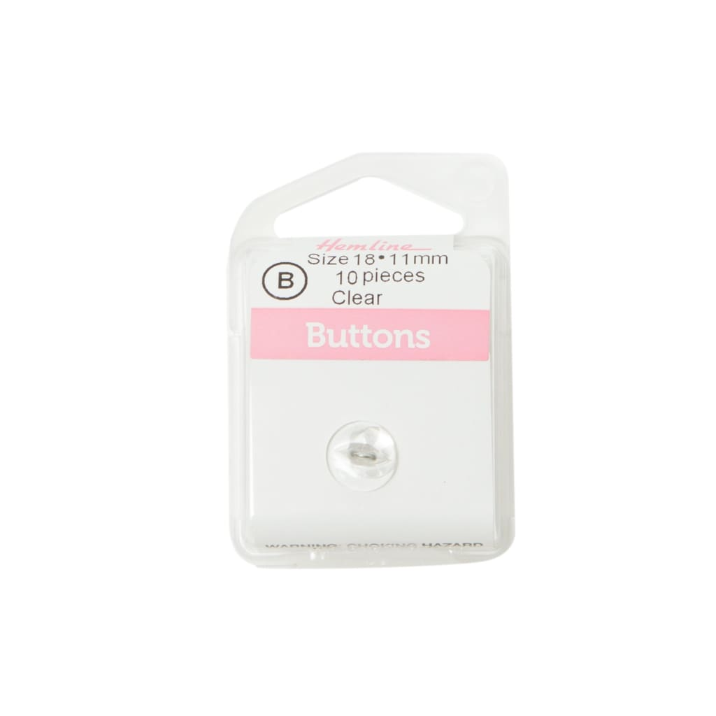 Hemline - Clear Buttons - 11Mm - All Products