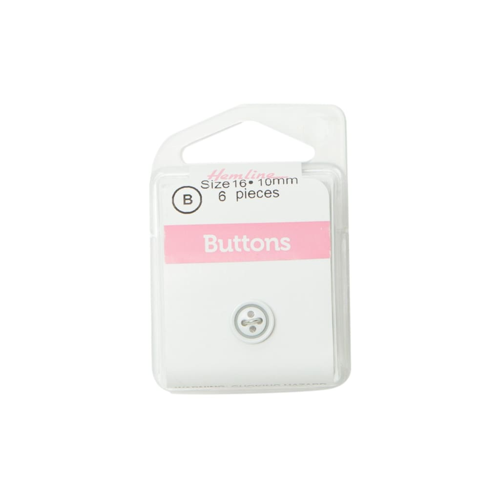 Hemline - White Buttons - 10Mm - All Products