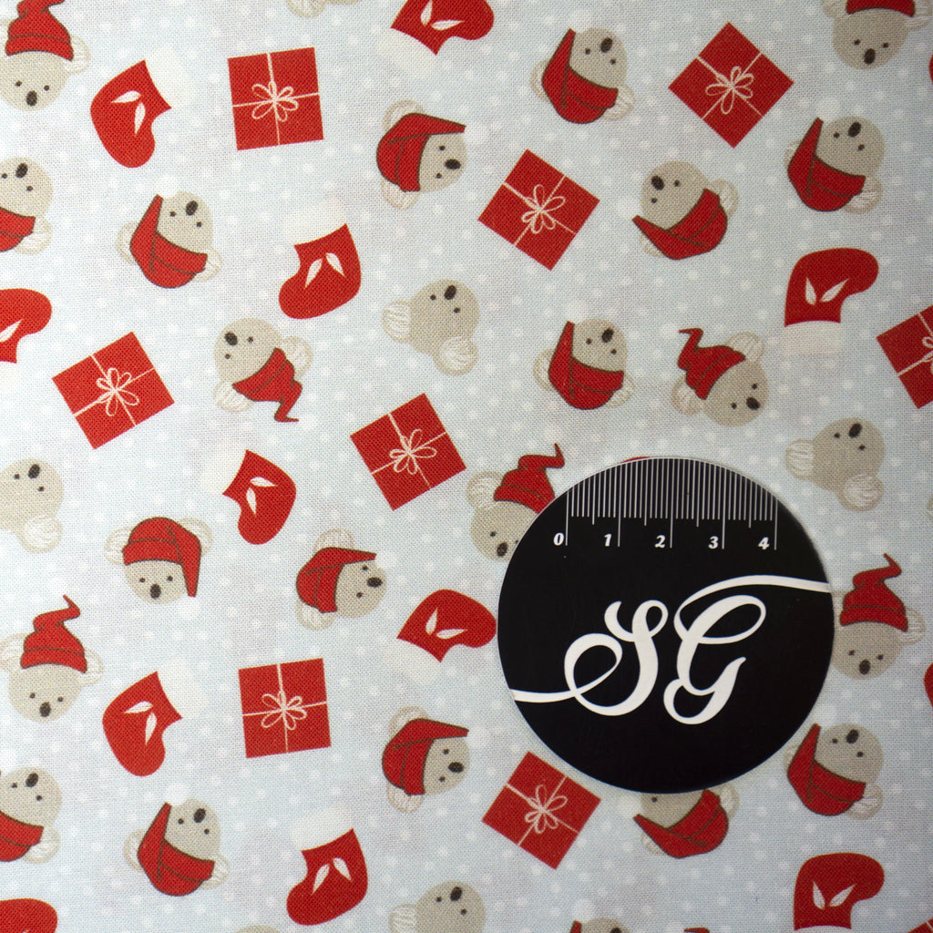 Sew Darling Fabric Design Studio - Festive Christmas - Koala Presents