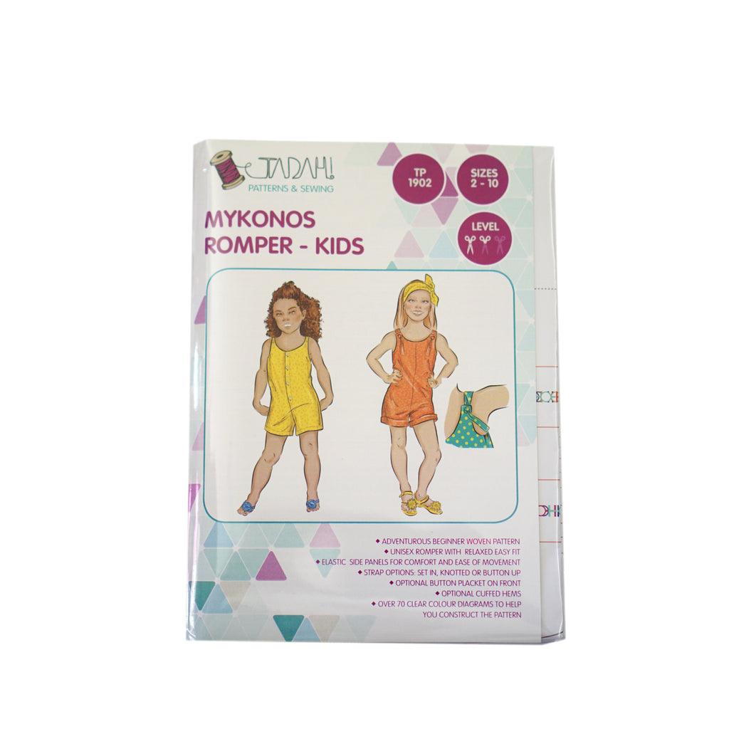 Tadah! Patterns - Mykonos Romper - Kids