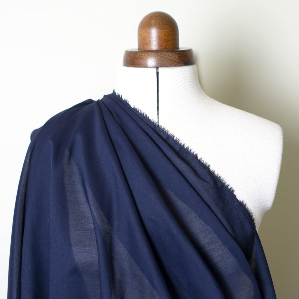 Cotton Voile - Navy Blue
