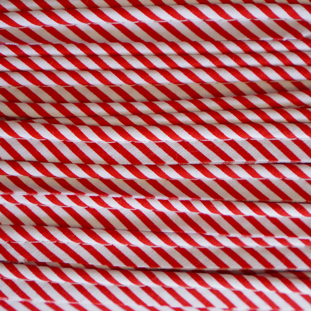 Sewing Gem - Cotton Piping - Red Striped