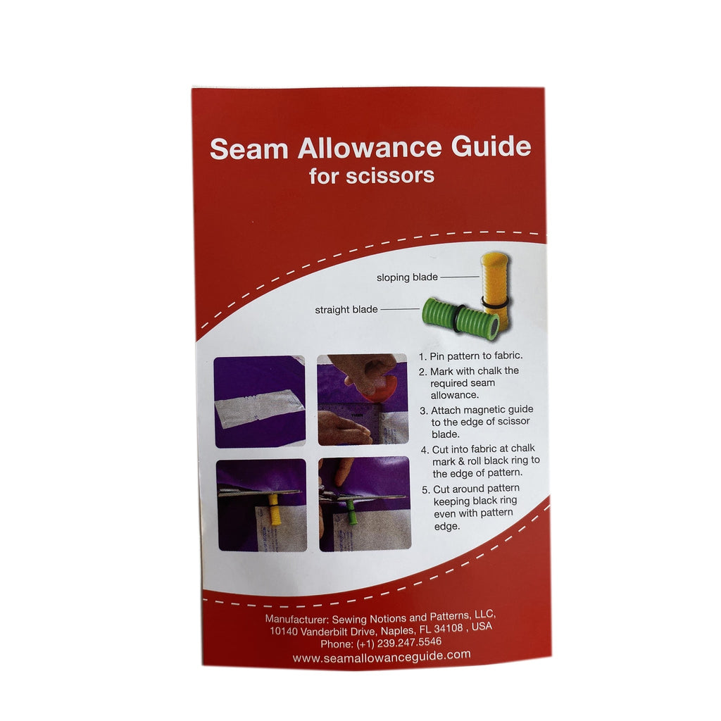 Seam Allowance Guide/Gauge For Scissors