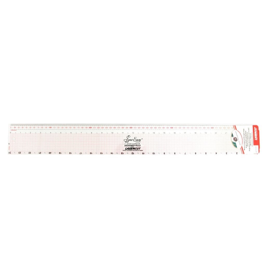 Sew Easy - Metric And Imperial Ruler - 24/62Cm Long - All Products