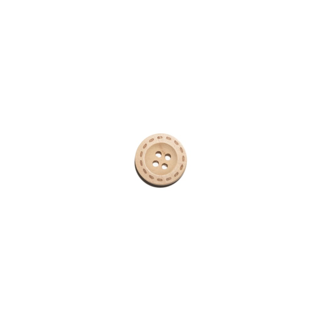 Sewing Gem - 4 Hole Natural Wooden Button - 18Mm - All Products