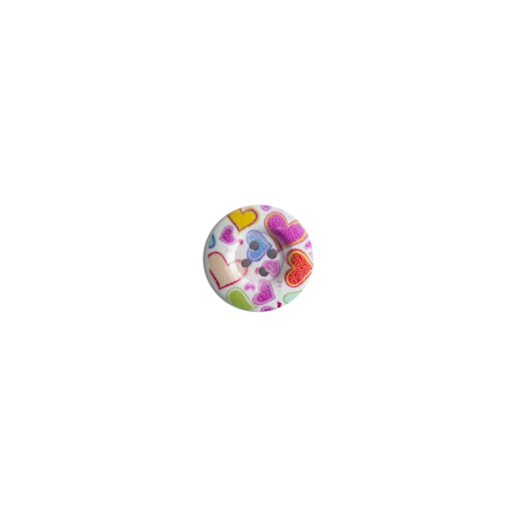 Sewing Gem - 4 Hole Printed Wooden Button -23Mm - All Products