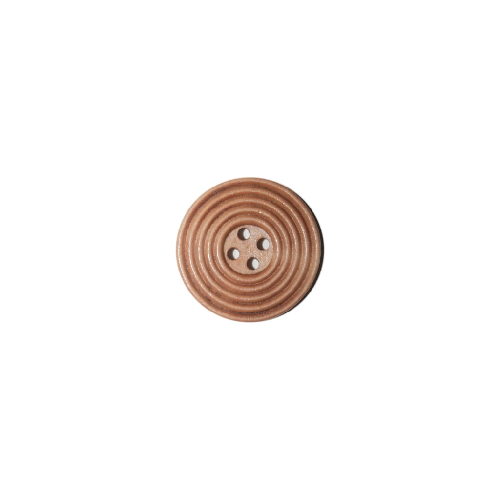 Sewing Gem - 4 Hole Wooden Saddle-Brown Button - 30Mm - All Products
