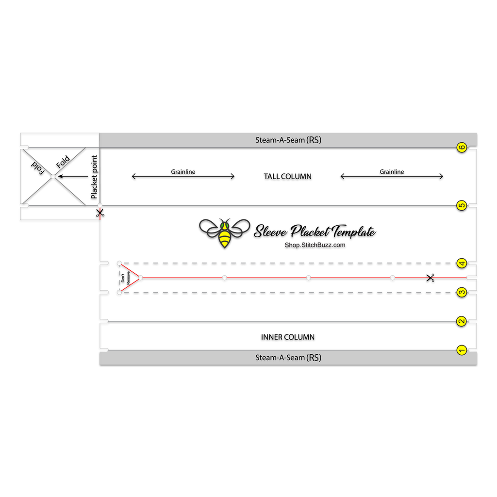 Stitch Buzz - Sleeve Placket Template