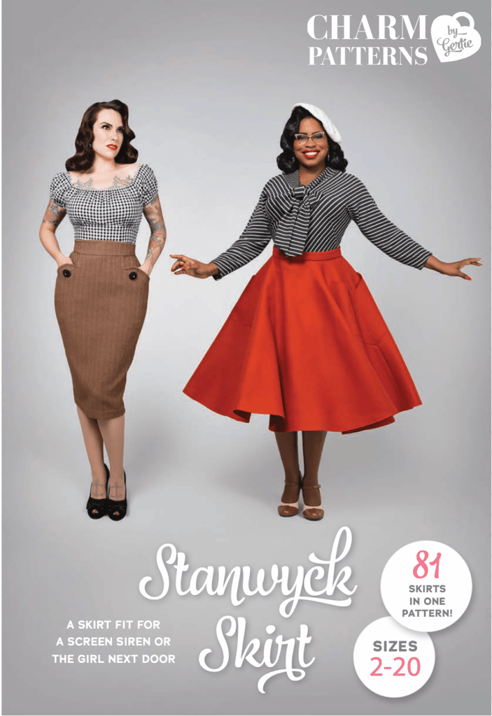 Charm Patterns By Gertie - Stanwyck Skirt