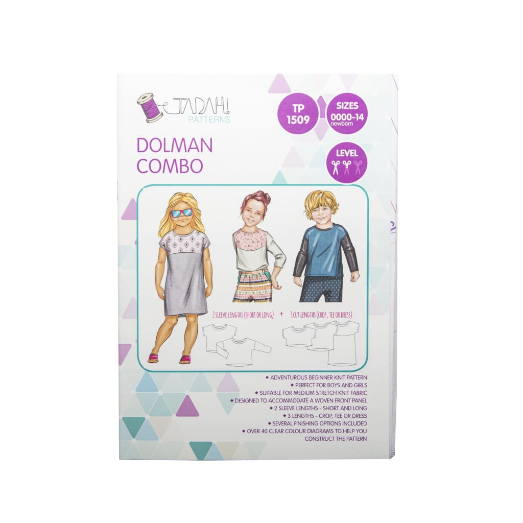 Tadah! Patterns - Dolman Combo Sewing Pattern - All Products