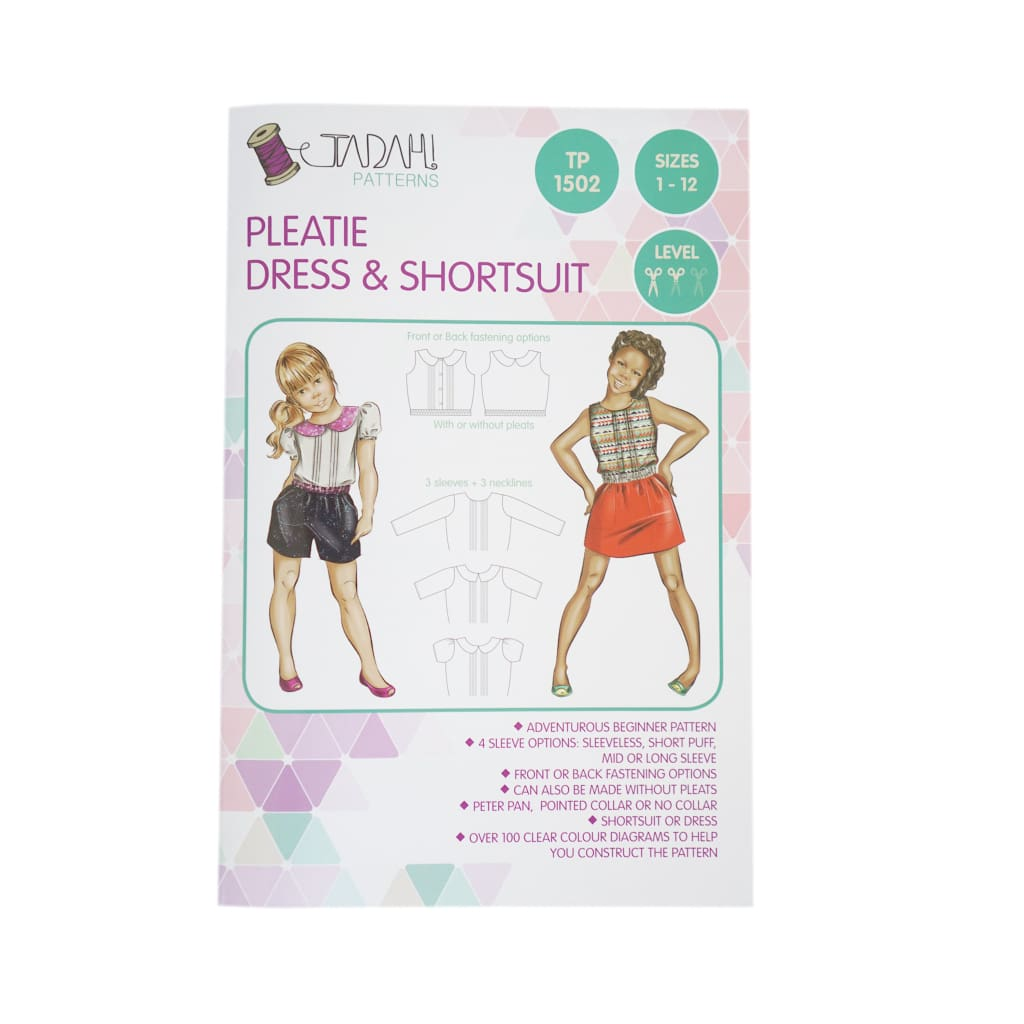 Tadah! Patterns - Pleatie Dress & Shortsuit Sewing Pattern - All Products