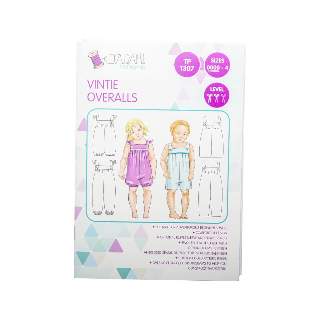 Tadah! Patterns - Vintie Overalls Sewing Pattern - All Products