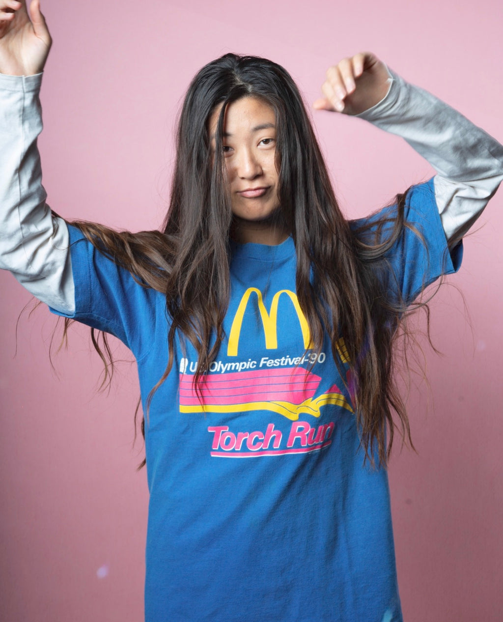 Vintage 90's McDonalds Torch Run T-Shirt - Men's M/L Woman's L