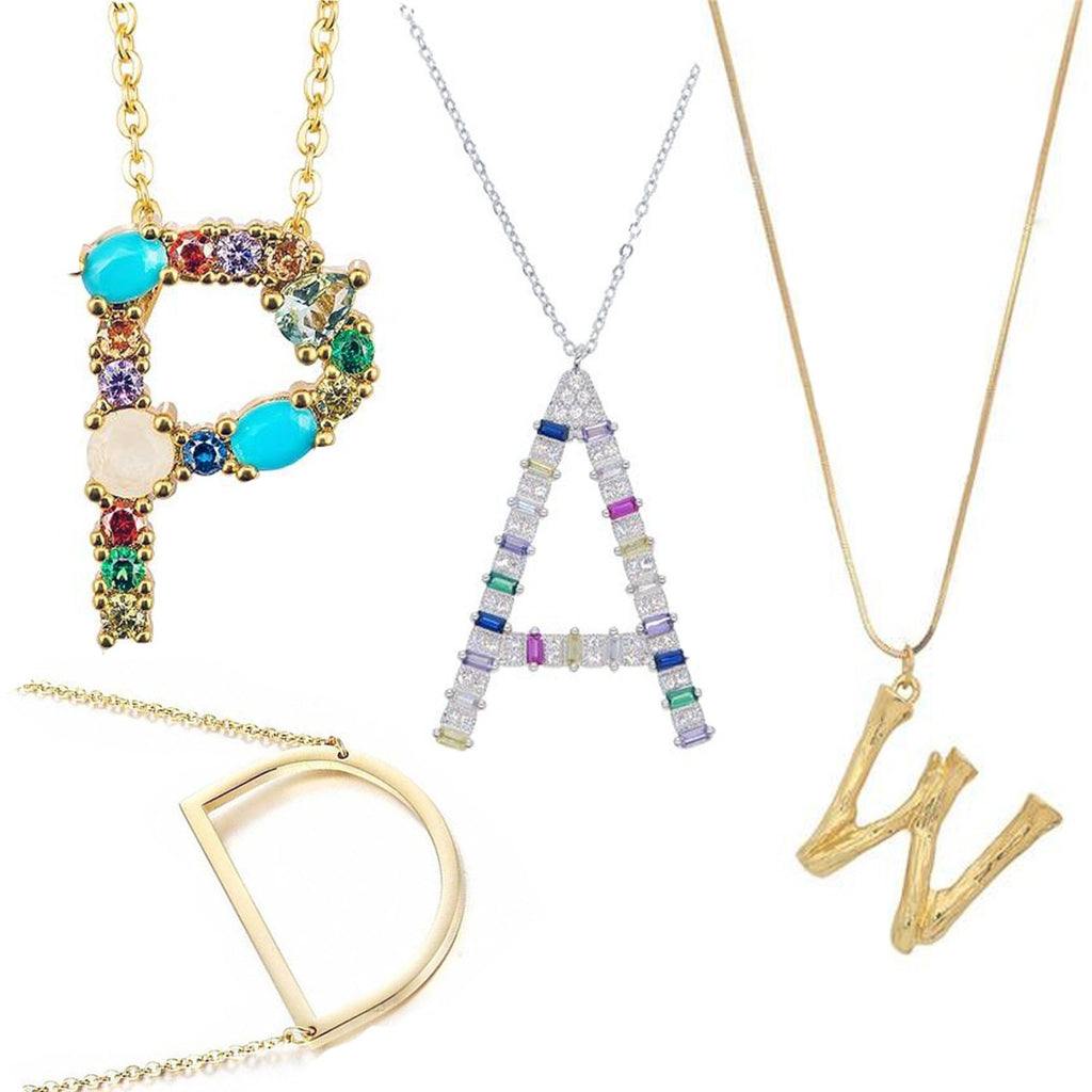 Selection of initial pendant necklaces for women