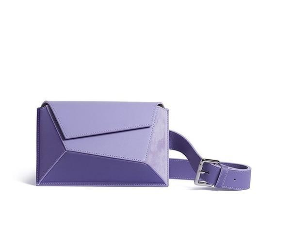 Purple origami belt waist bag