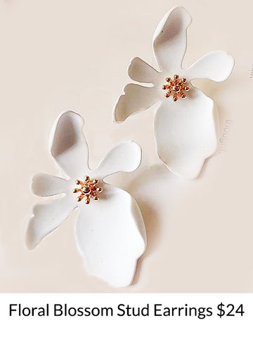 Floral Blossom Stud Earrings