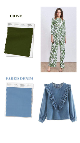 spring summer 2020 colors chive and faded denim